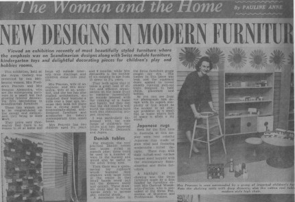 day in a newpaper from 1965 that my brother in law found preserved under a floor the article caught my eye with its reference to scandinavian design australia scandinavian design